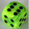 Chessex Vortex Bright Green W6 12mm Set