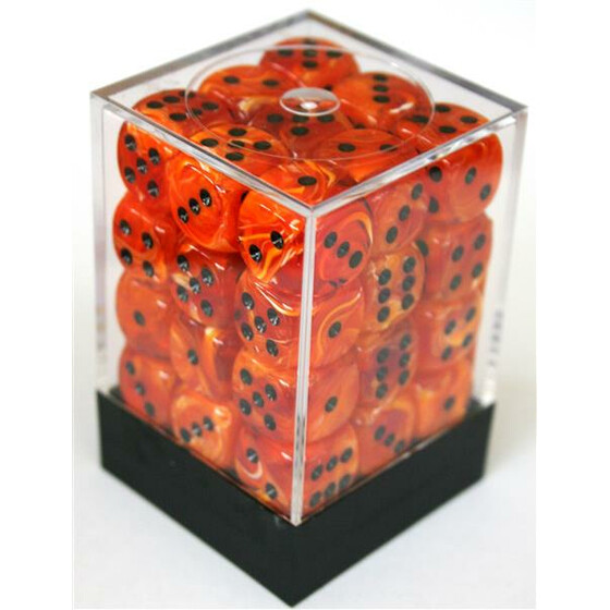 Chessex Vortex Orange/Black W6 12mm Set