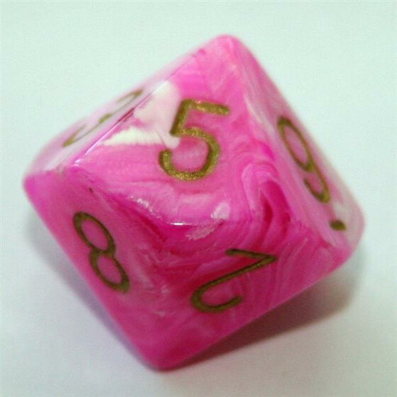 Chessex Vortex Pink/Gold W10