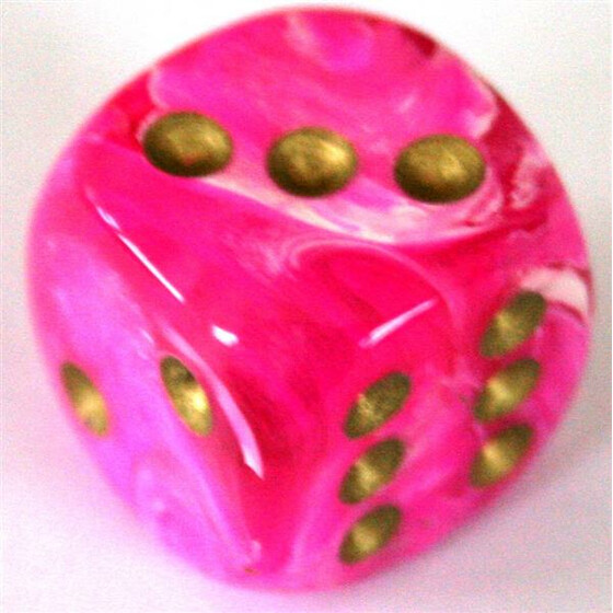Chessex Vortex Pink/Gold W6 12mm