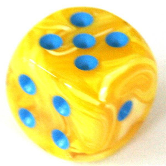 Chessex Vortex Yellow/Blue W6 12mm