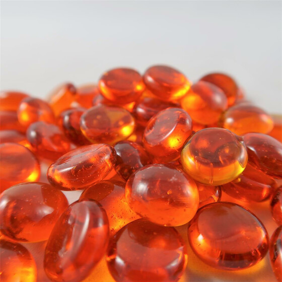 Chessex Glass Stones Orange