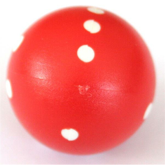 Round Dice D6 Red/White