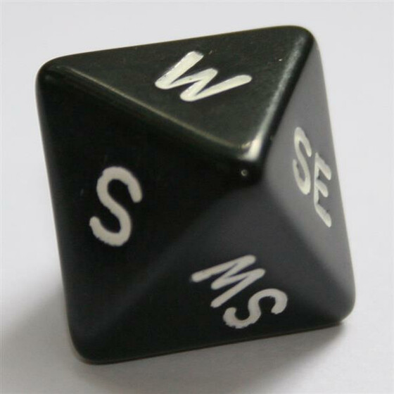Compass Dice D8 Black