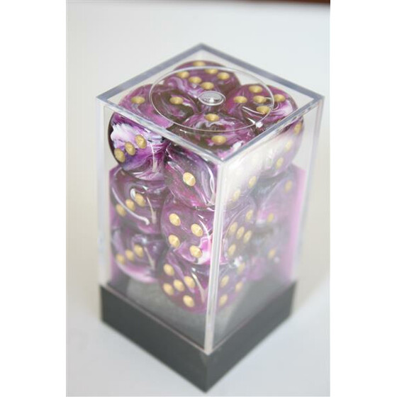 Chessex Vortex Purple/Gold D6 16mm Set
