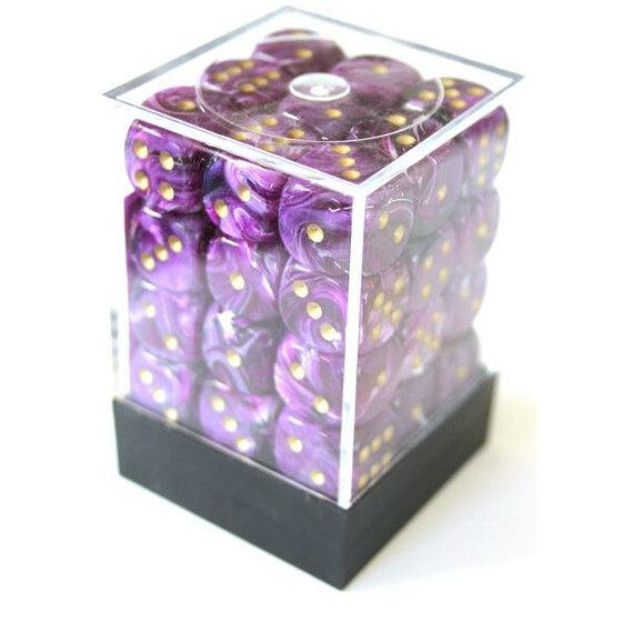 Chessex Vortex Purple/Gold D6 12mm Set
