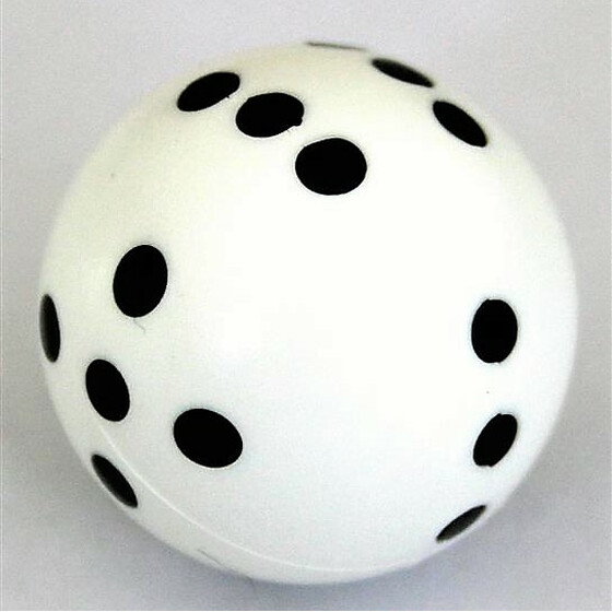 Round Dice D6 White/Black