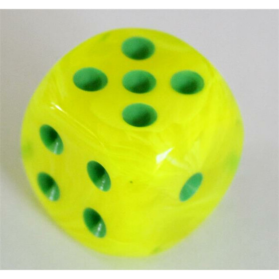 Chessex Vortex Electric Yellow W6 12mm