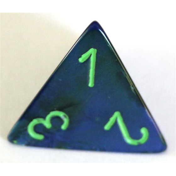 Chessex Lustrous Dark Blue/Green W4