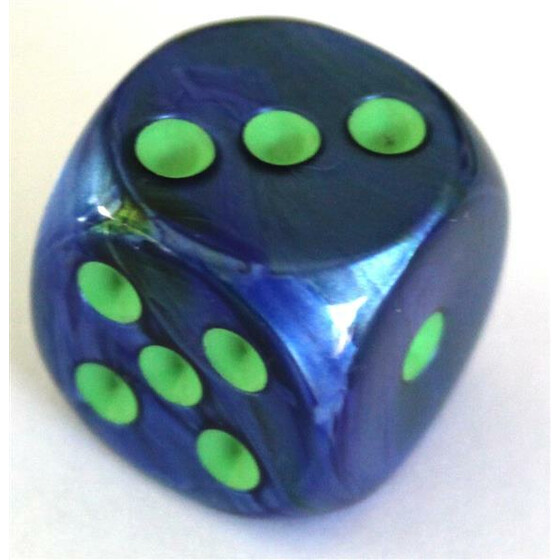 Chessex Lustrous Dark Blue/Green W6 12mm
