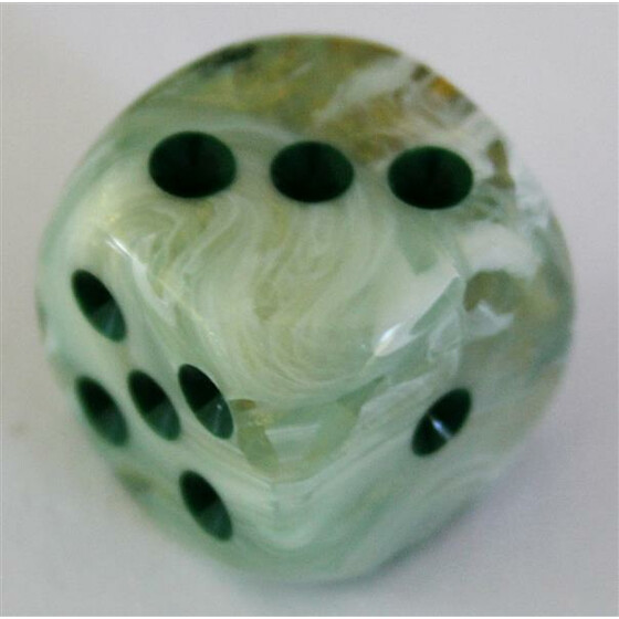 Chessex Marble Green/Dark Green W6 12mm