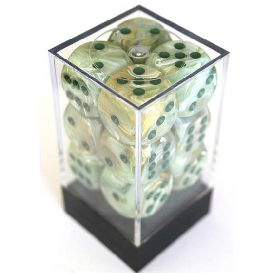 Chessex Marble Green/Dark Green W6 16mm Set