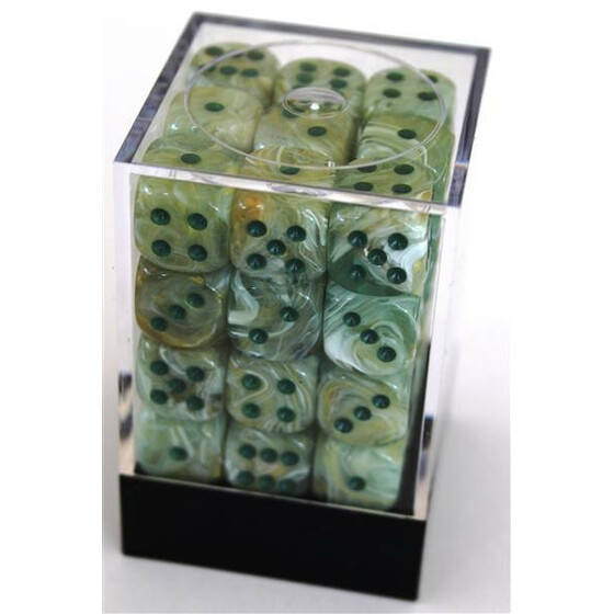 Chessex Marble Green/Dark Green W6 12mm Set
