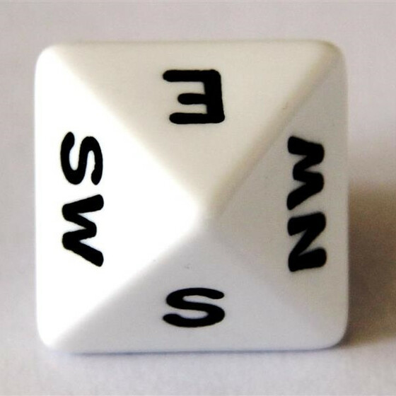 Compass Dice D8 White