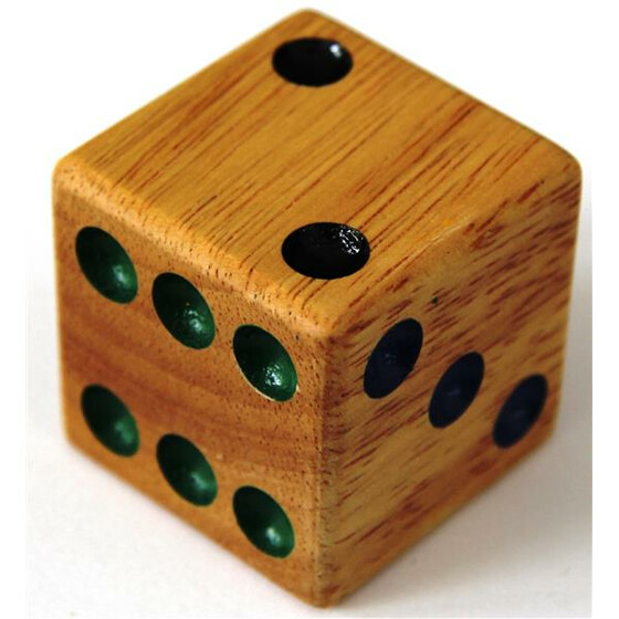Wood Dice 40mm