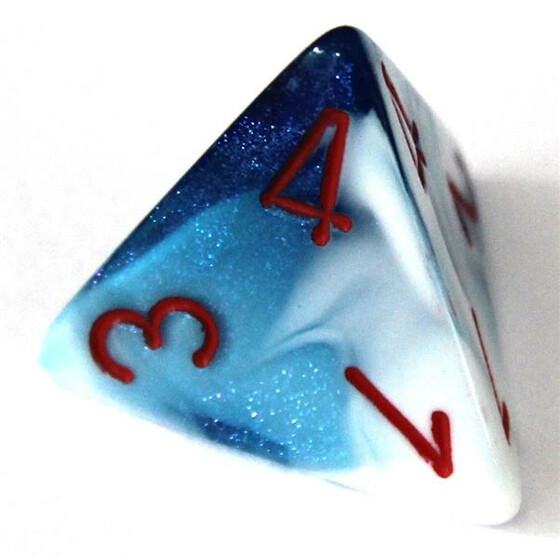 Chessex Gemini Astral Blue-White/Red W4