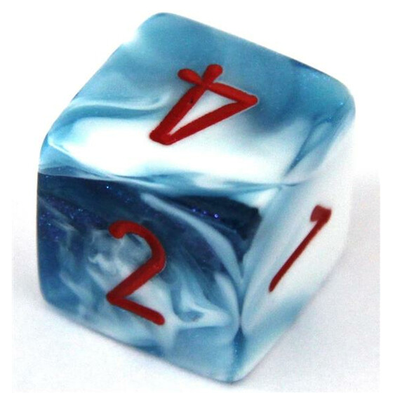 Chessex Gemini Astral Blue-White/Red W6