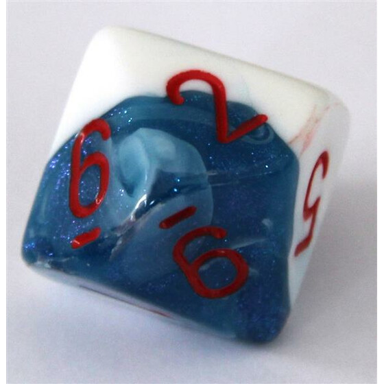 Chessex Gemini Astral Blue-White/Red W10