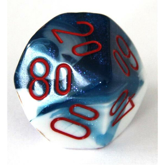 Chessex Gemini Astral Blue-White/Red W10%