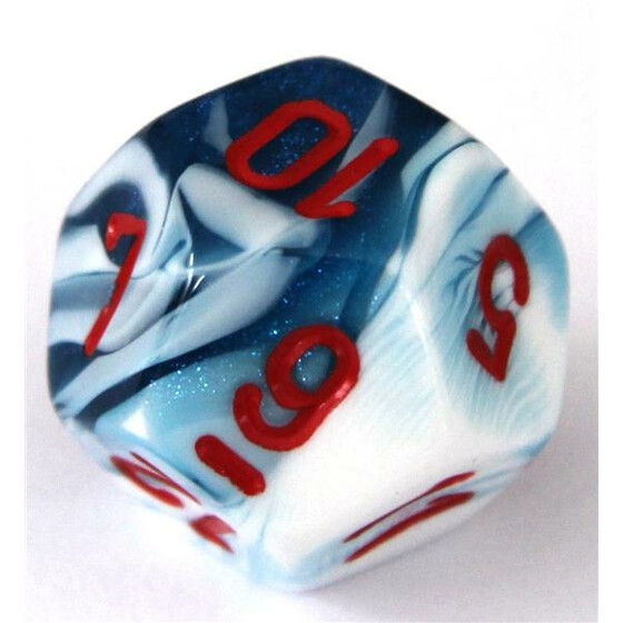 Chessex Gemini Astral Blue-White/Red D12
