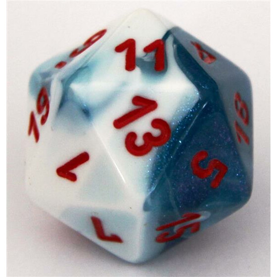 Chessex Gemini Astral Blue-White/Red W20