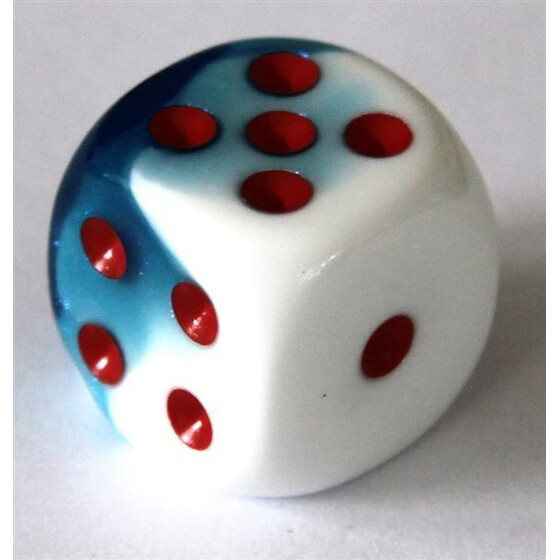 Chessex Gemini Astral Blue-White/Red W6 16mm