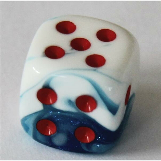 Chessex Gemini Astral Blue-White/Red W6 12mm