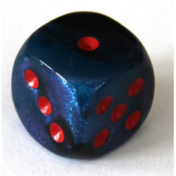 Chessex Gemini Black-Starlight/Red W6 16mm