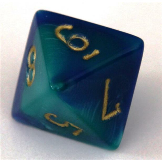 Chessex Gemini Blue-Teal W8