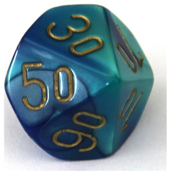 Chessex Gemini Blue-Teal W10%