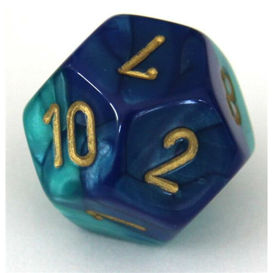 Chessex Gemini Blue-Teal W12