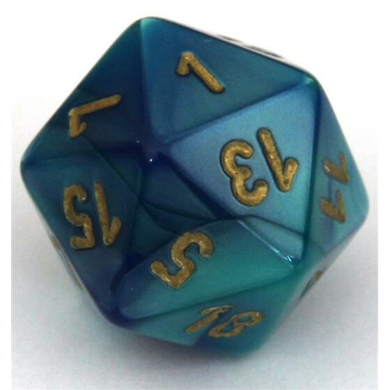 Chessex Gemini Blue-Teal W20