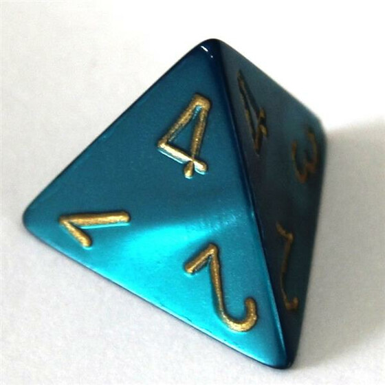 Chessex Gemini Red-Teal W4