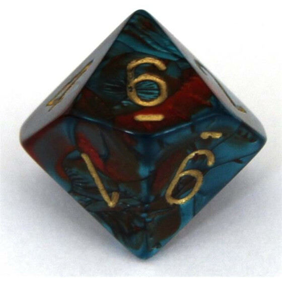 Chessex Gemini Red-Teal/Gold W10