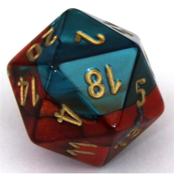 Chessex Gemini Red-Teal W20