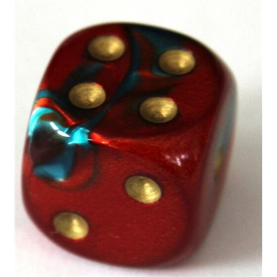 Chessex Gemini Red-Teal W6 12mm