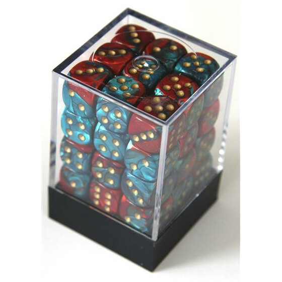 Chessex Gemini Red-Teal/Gold D6 12mm Set