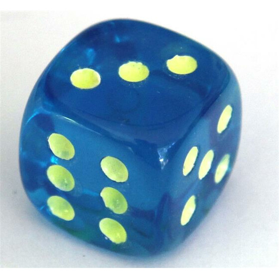 Fluorescent Dice Blue D6