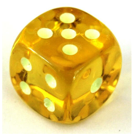 Fluorescent Dice Yellow D6