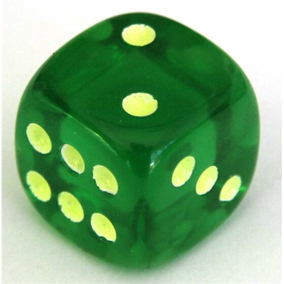 Fluorescent Dice Green D6