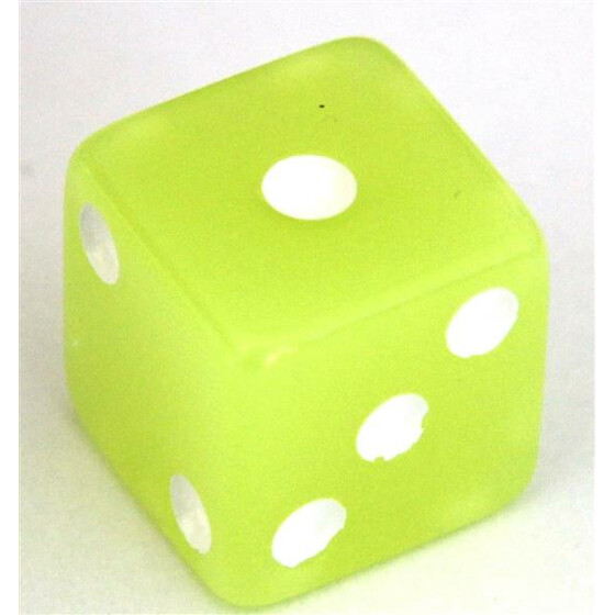 Fluorescent Dice Lemon Yellow D6