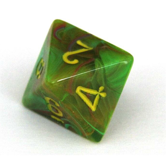 Chessex Vortex Slime/yellow W8
