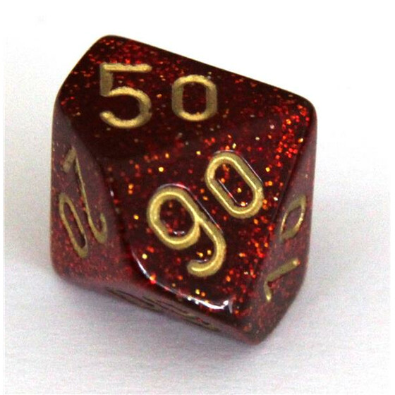 Chessex Glitter ruby/gold W10%
