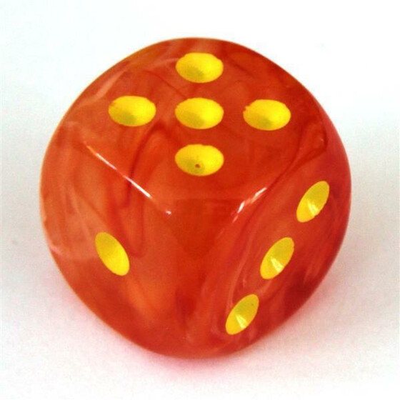 Chessex Ghostly Glow Orange/yellow W6 16mm