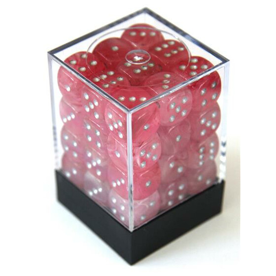 Chessex Ghostly Glow Pink/silver 12mm Set