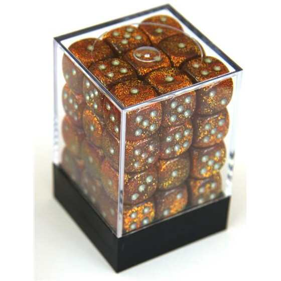 Chessex Glitter gold/silver W6 12mm Set
