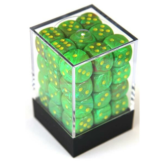 Chessex Vortex Slime/yellow W6 12mm Set