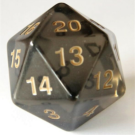 55mm translucent smoke D20 Count down