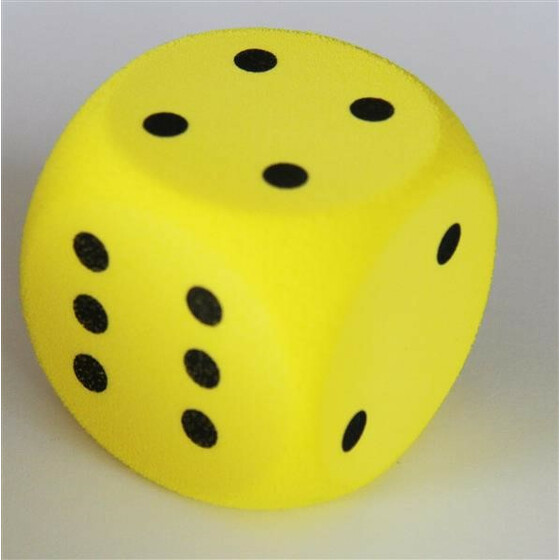 Foam Dice D6 50mm with spots