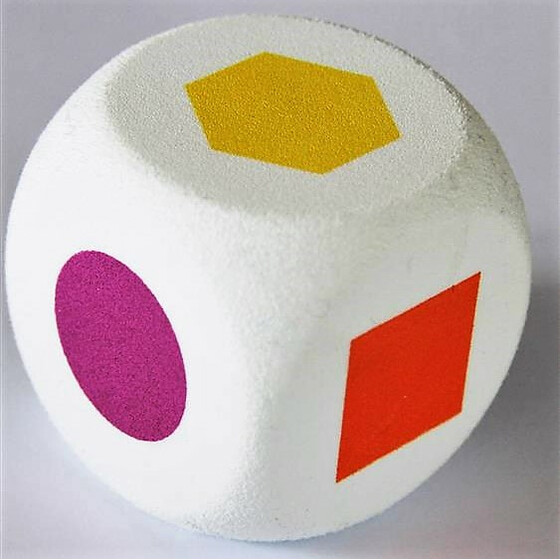 Foam Dice 50mm Geometric shapes 2